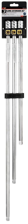 3-Piece 1//4 Drive Performance Tool W36940 Socket Extension Bar Set