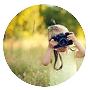 alfombrilla de ratón niño con la cámara - ronda - 20cm