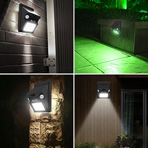 Solar Lights, OxyLED Wireless 12 LED Solar Motion Sensor Step Lights, Outdoor Wall Lights, Security Color-Changing Lights, Waterproof Landscape Light for Outdoor, Garden Decor, Patio, 2 Pack by OxyLED (Image #3)