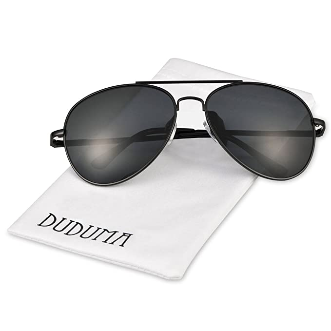 black reflective aviator sunglasses  Amazon.com: Duduma Premium Classic Aviator Sunglasses with Metal ...
