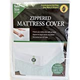 Twin Size Zippered Mattress Cover Vinyl Keeps Out Bed Bugs & Dust Mites Water Resistant Protector 75 X 39 New and Improved Now 12 Wide