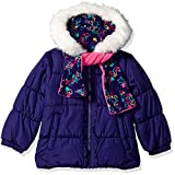 #9: London Fog Girls' Winter Coat with Hat and Scarf