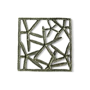 Mud Pie Starfish Trivet, Silver