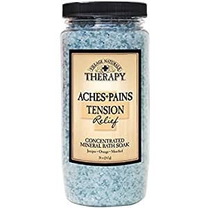 Village Naturals Mineral Bath Salts Soak, Relief for Joint and Muscle Pain Combining Epsom Salts, Juniper, Orange and Menthol Essential Oils and Extracts, 20 ounces
