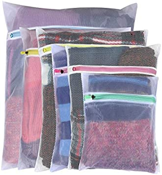 Chic Laundry Bags Zipper Washing Machine Clothes Pouches Travel Home Storage 4PC