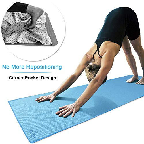 Yoga Towel Uk: Heathyoga Non Slip Yoga Towel (183cmx66cm), Exclusive