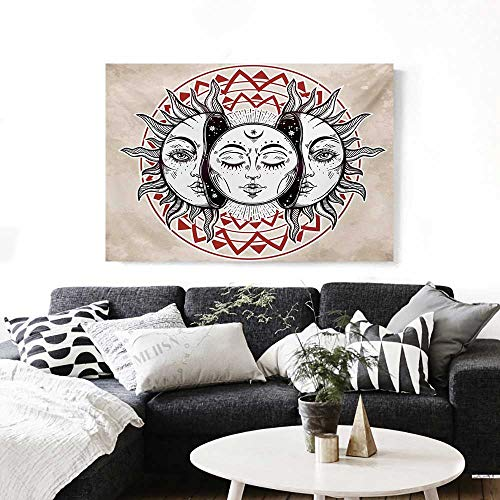 Picture for Home Decoration Oriental Eastern Culture Elements with Abstract Style Heavenly Bodies Tattoo Style Customizable Wall Stickers 24