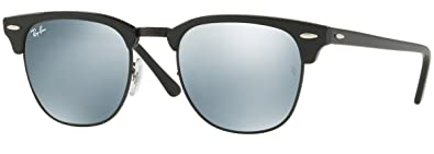 715e93a9aa Amazon.com  Ray-Ban RB3016 Clubmaster Sunglasses (51mm