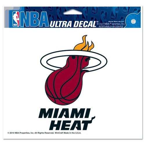 WinCraft NBA Miami Heat Multi-Use Colored Decal, 5