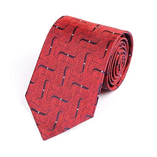 CICIN 2 Pcs Men's Geometric Patterns Tie,Men's Retro Polyester Silk Business Gentleman Necktie for Wedding, Party, - Silk Necktie 1 Pattern