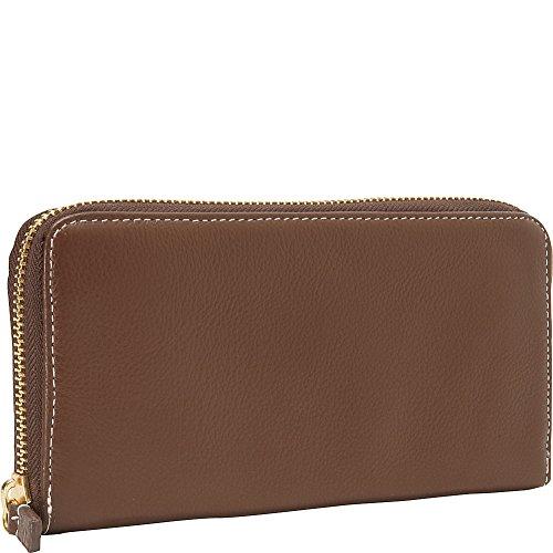 Clava Zippy Clutch Wallet (Brown)