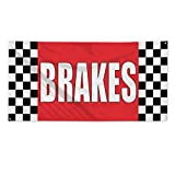 Brakes #1 Outdoor Fence Sign Vinyl Windproof Mesh Banner With Grommets - 3ftx6ft, 6 Grommets