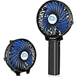HandFan Small Handheld Fan, Mini Hand Fan/Desk Fan Folding Change Rechargeable Battery/USB Operated Electric Fan 3 Speeds Portable Fan Strong Wind Personal Fan(black)