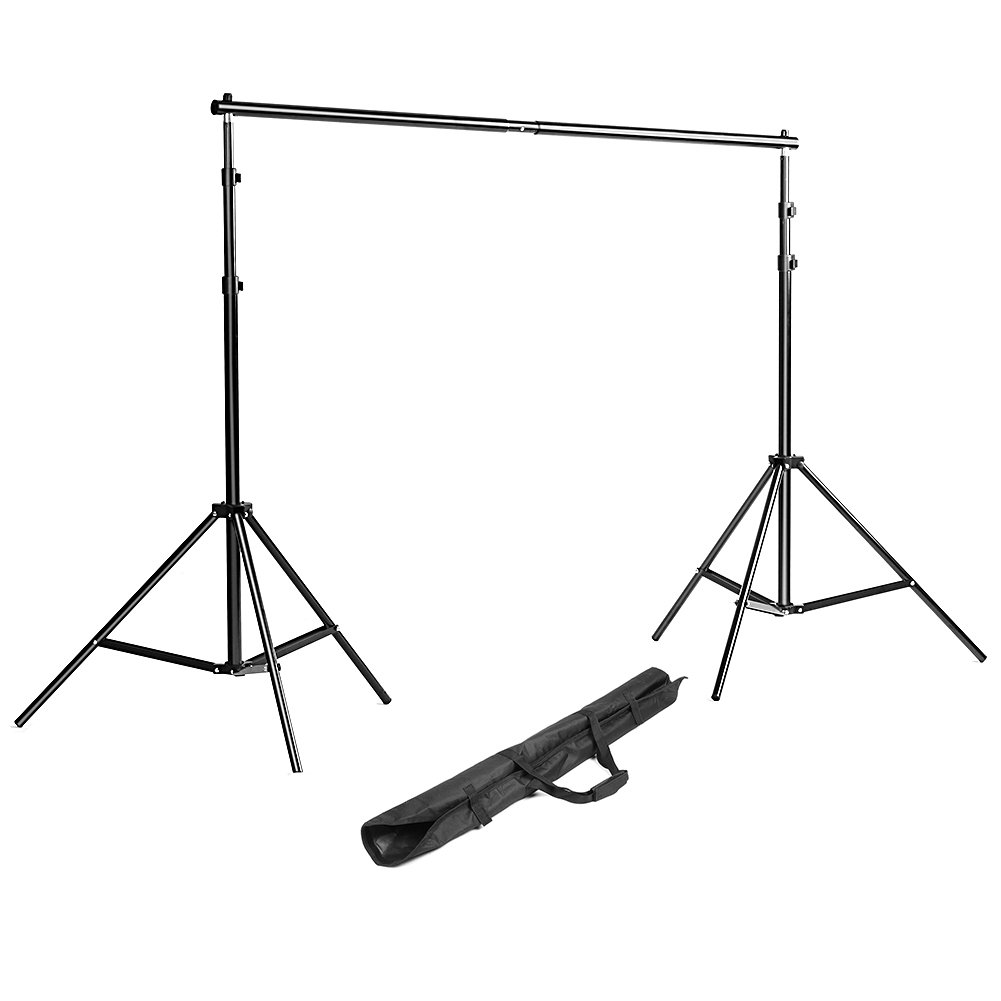 Neewer Background Stand Backdrop Support System Kit 7 Feet/200CM by 7 Feet/200 cm Wide with Portable Carrying Bag for Video, Portrait, and Product Photography by Neewer