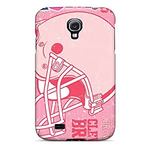 Samsung Galaxy S4 FNK9282kPrf Customized HD Cleveland Browns Image Excellent Cell-phone Hard Covers -Marycase88