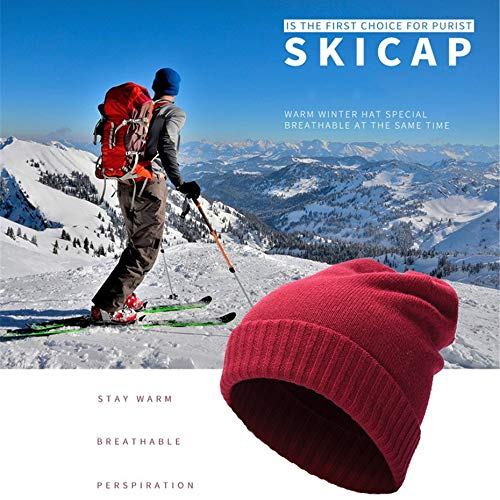 INFIKNIGHT INF Snow Ski Cap Beanies for Women Men Autumn & Winter Thick Warm Solid Color Dual-Layer Knitted hat Outdoor Leisure Sports Caps