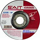 United Abrasives SAIT 20070 Type 27 A24N Grade 5-Inch x 1/4-Inch x 7/8-Inch Fast Depressed Center Grinding Wheel,  25-Pack
