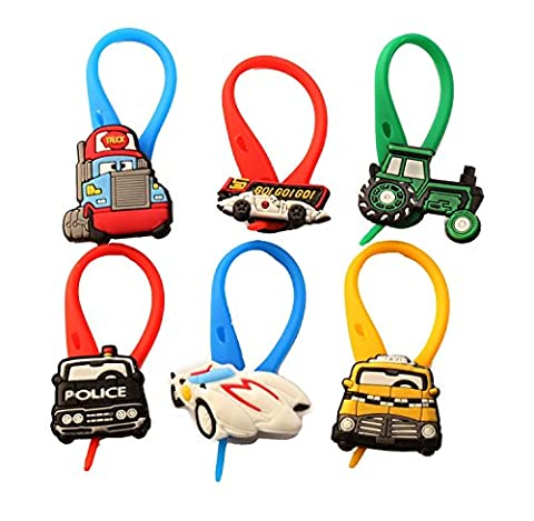 AVIRGO 6 pcs Colorful Bag Tag Identify your Luggage Set # 24-12 - En Route Luggage Tag