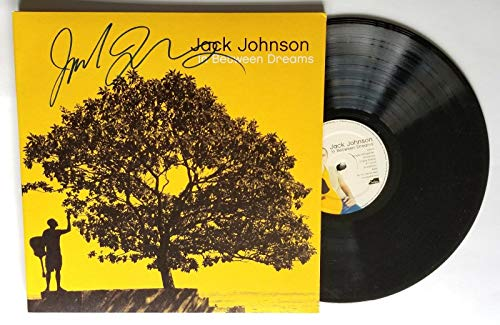 Jack Johnson REAL hand SIGNED In Between Dreams Vinyl Record COA Autographed