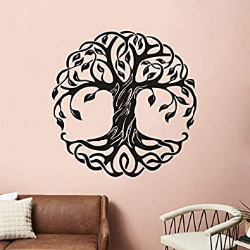 Mandala círculo árboles de vinilo tatuajes de pared decoración ...
