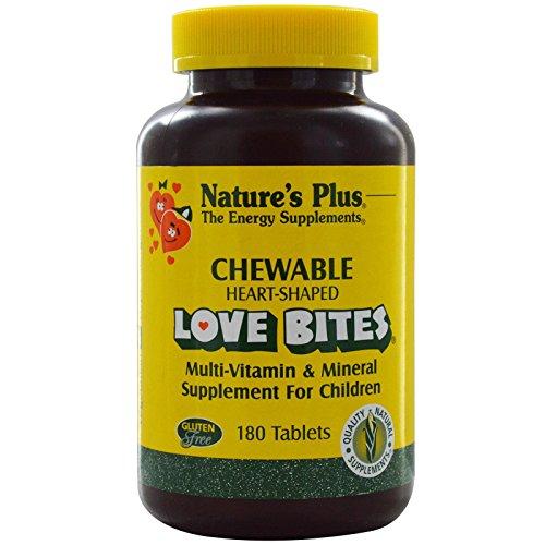 Nature's Plus, Love Bites Multi-Vitamin & Mineral, Supplement For Children, 180 Chewable Tablets - Chewable Love Bites