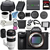 Sony ILCE7M3/B Alpha a7 III (A7M3) Mark 3 Mirrorless Digital Camera (Body Only) + Sony FE 100-400mm f/4.5-5.6 GM OSS Lens SEL100400GM + 256GB SDXC Card Bundle