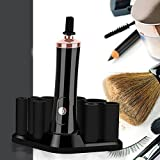 Electric Makeup Brushes Cleaner And Dryer,360º Rotation With 8 Rubber Collars To Clean Your Brushes In Seconds Multifunctional - Battery Operated HMYH,Black
