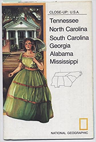 national geographic close up maps usa the southeast regional map travel planner tennessee north carolina south carolina georgia alabama