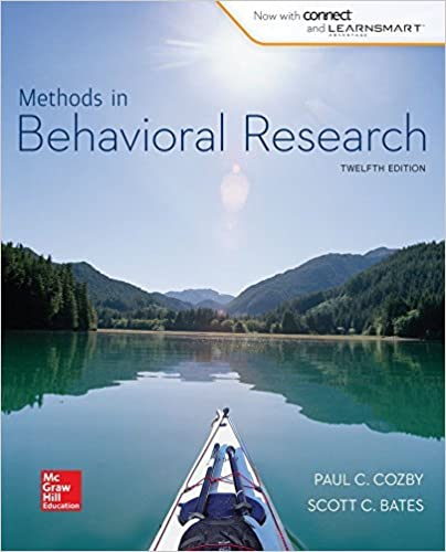 Looseleaf for Methods in Behavioral Research by Paul Cozby (2014-10-02)