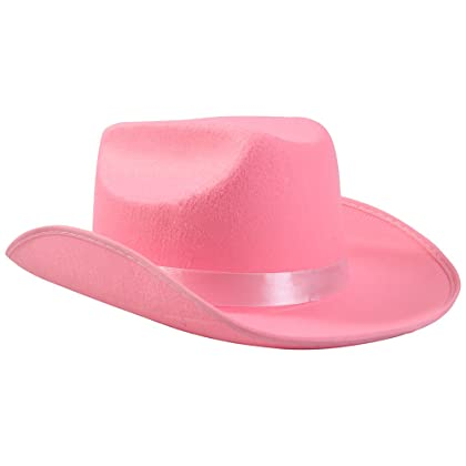 ... Funny Party Hats Cowgirl Hat - Girls Pink Cowgirl Costume - 2 Piece Set  - Pink ... 10d78df5e89d