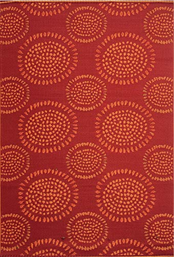 (Mad Mats® FM-MOL69-RD1 Outdoor Rug, 6' x 9', Red)