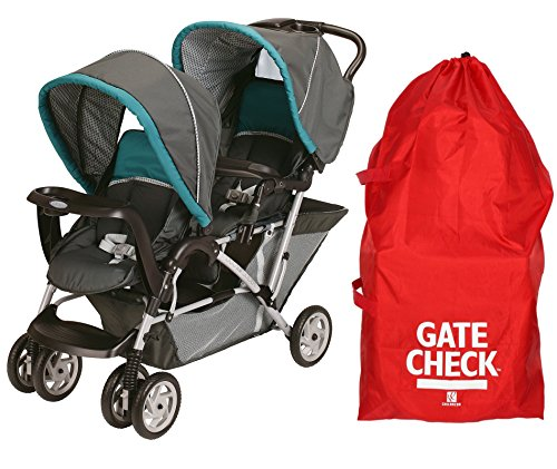 Graco DuoGlider Classic Connect Stroller, Dragonfly with Gate Check Bag