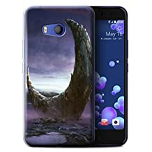 Official Chris Cold Gel TPU Phone Case / Cover for HTC U11 / Broken Moon Design / Alien World Cosmos Collection