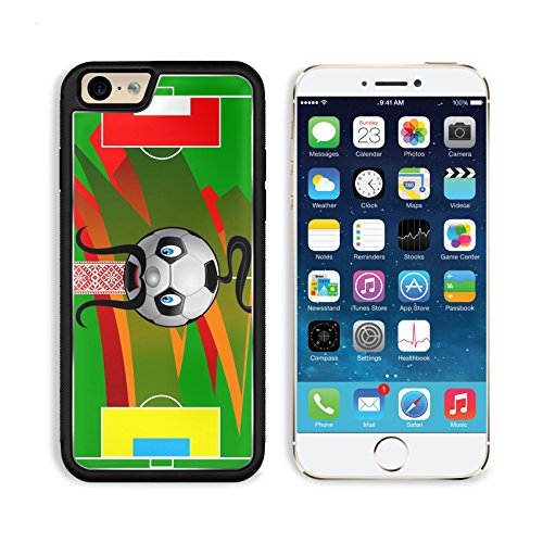 Liili Premium Apple iPhone 6 iPhone 6S Aluminum Backplate Bumper Snap Case iPhone6 IMAGE ID: 12803058 Soccer field with flag of Poland and UkraineCartoon soccer (Duo Costume Ideas)