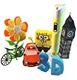 3D Printing Pen with LCD Screen,Scribbler 3D Pen Drawing Printer Pen for 3D Scribbler Printing, Drawing, Doodle Model Making and 3D Modeling, With PLA Filament, Perfect Gift (Yellows)