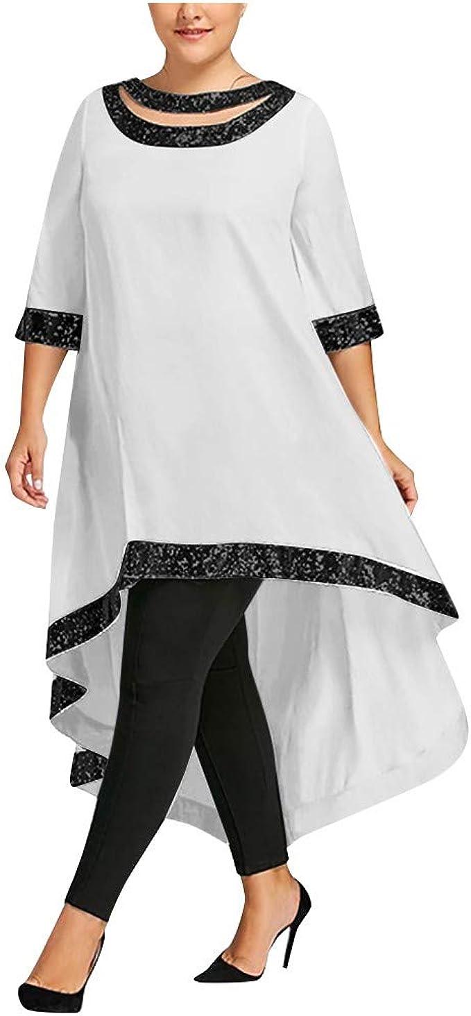 Zegeey Spitze Große Größen Kleid Partykleider Cocktail Kleid O-Ausschnitt  Kleid Damen Festliche elegant Kleid Plus Size Knielang Retro Karneval