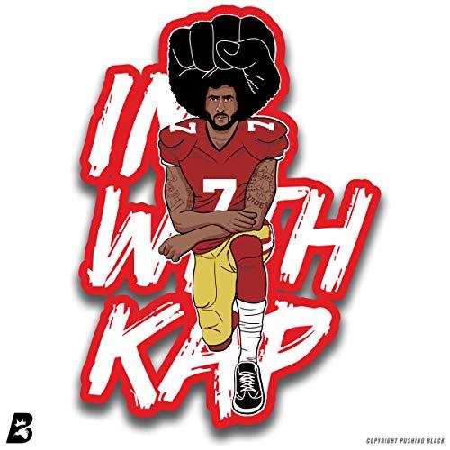 b267298d3 Pushing Black '#ImWithKap Kneeling Colin Kaepernick ' Premium Multi-Purpose  Decal (1 Pack, 5.5 in)