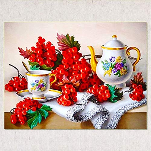 Paintworks Paint By Number,Red Grape Fruit Teapot