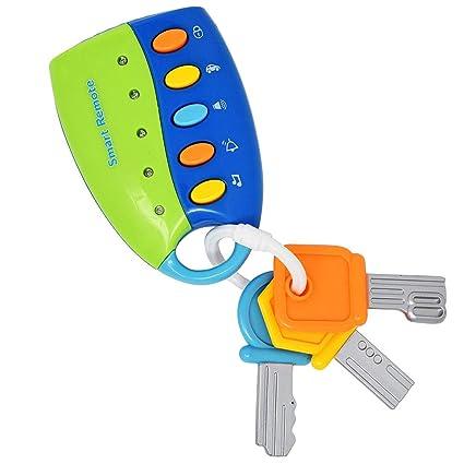Autoschlüssel Auto Schlüssel Spielzeug für Kinder Baby Kleinkinder Musical Licht