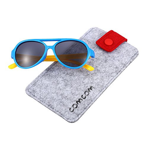 Rubber Flexible Kids Polarized Sunglasses for Baby and Children Age 3-10 - Uvb Sunglasses