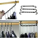 Household Mall Pack of 10 Pcs 15 inch Black Magic Hangers Closet Space Saving Wardrobe Clothing Hanger Oragnizer