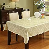 ColorBird Flannel Backed Vinyl Tablecloth Waterproof PVC Table Cover for Kitchen Dinning Table Home Decoration (54
