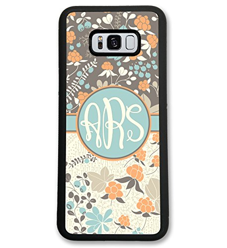 Simply Customized Case For Samsung Galaxy S7 EDGE Cloudberry Pastel Fall Monogram Monogrammed Personalized Custom Hard Rubber