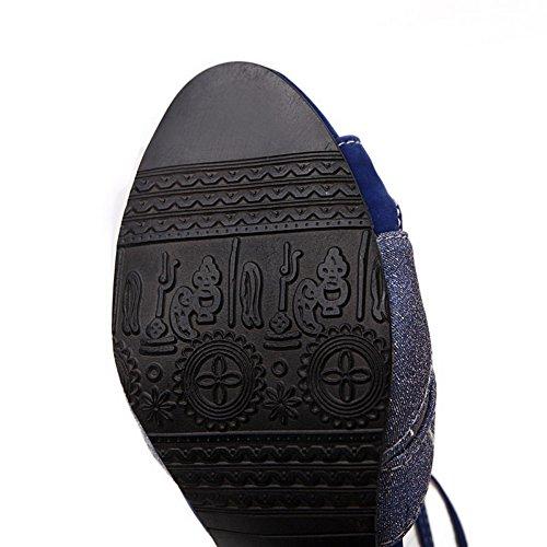 vestir Sandalias mujer para Azul Adee de FEw4q4nR