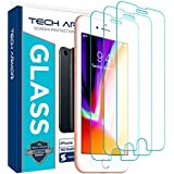 Tech Armor Apple iPhone 7, iPhone 6, iPhone 8 Ballistic Glass Screen Protector [3-Pack]
