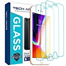 Tech Armor Apple iPhone 6 Plus/6s Plus, iPhone 7 Plus, iPhone 8 Plus Ballistic Glass Screen Protector [3-Pack]