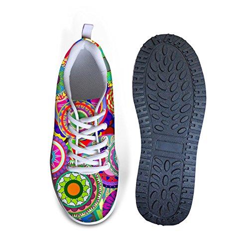 Mesh Bohemia Women's Slimming Casual Platform Pattern Sneaker Smart Shoes Breathable CHAQLIN 1 Swing 0RAdRxq