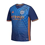 adidas MLS New York City FC Boys Replica Short Sleeve Team Jersey, Sky Blue, Small