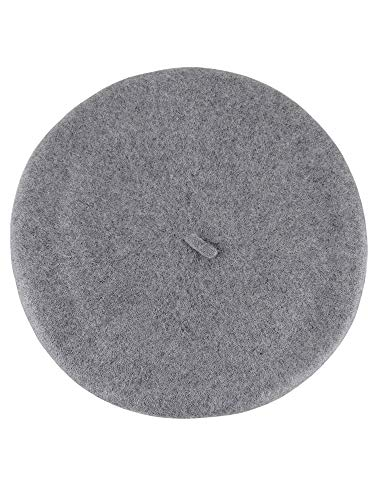 (NYFASHION101 French Style Lightweight Casual Classic Solid Color Wool Beret, Ash Gray )