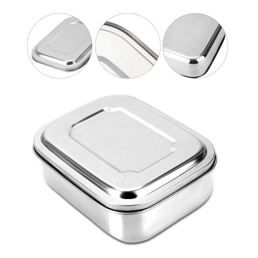 Brotbox Bento Box f/ür Kinder Vesperdose Eco Edelstahl Lunchbox /& Brotdose f/ür Kinder und Erwachsene Umweltfreundliche Essensbox frei von BPA.